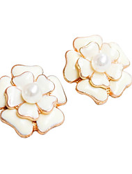 Симпатичные Знакомства цветка перлы Серьги