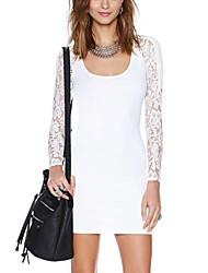 Frauen Rückenfrei-Design und runde Kragen-Kleid