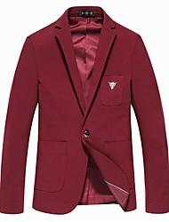 revers loisirs couleur pure costume des hommes