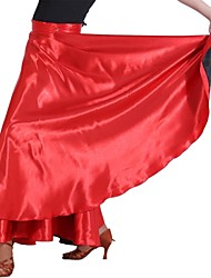 Elástico tejido de raso de Baile de la Mujer Shantung América / danza moderna falda / Manteau