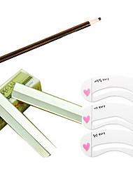 Lâmina Sobrancelha Com Template sobrancelha com lápis de sobrancelha (3 Color Para Escolha)
