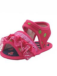 Baby Shoes - Casual - Sandali - Sintetico / Raso - Rosso