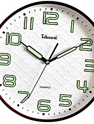 "Telesonic™ 13""H  Brief Style Wave Background Noctilucous Scale Mute Wall Clock"