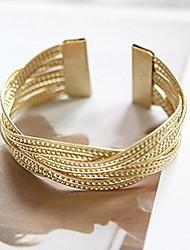 Lucky Doll Women's Fashion Twist Knit Gold Bracelet