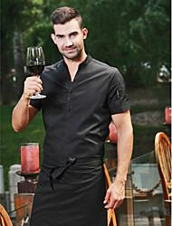 ресторанах униформа короткие рубашки рукав официанта с застежкой