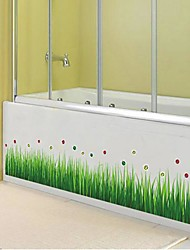 Createforlife ® Мультфильм Счастливые Зеленая трава Дети Детская комната стикер стены искусства стены Наклейки