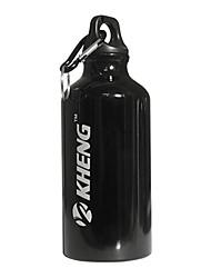 KHENG 400ML Aviation Aluminum Healthy Plastic Black Warm Keeping Cycling Water Bottle