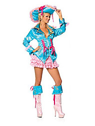 Costume d'Halloween Cool Pirate manches longues bleu Polyester Femmes