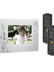 7 pouces couleur TFT LCD écran 420 lignes Video Door Phone avec 2 à 1