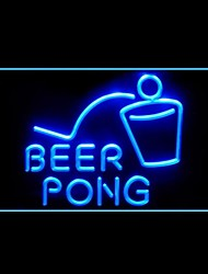 beer pong bar publicidade levou sinal de luz