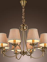 40W Chandelier ,  Modern/Contemporary / Traditional/Classic / Rustic/Lodge / Country / Island / Vintage Brass Feature for Candle Style