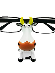 Funny Gift Hand Carving Cow Shape Eyeglass Stand