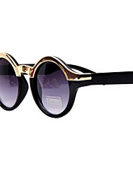 Coway Retro Unisex Gold Half Frame Round Sunglasses(Assorted Color)