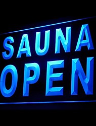 SAUNA OPEN Advertising LED Light Sign