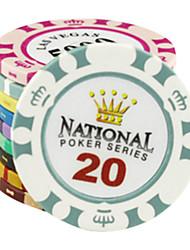 $ 20 puces motif de couronne argile de mahjong divertissement jouets