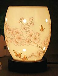 belle lampe motif de fleur de prunier parfum électrique de bureau avec variateur