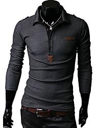 Debe Herren Revers Neck Schulterpolster-T-Shirt