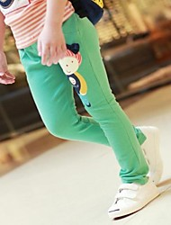 Girl's Green / Red / Yellow Leggings Cotton All Seasons