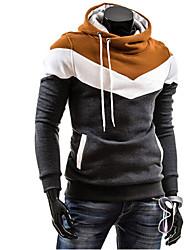 contraste hoodie vaina color de la prenda de Fengge hombres