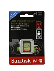 SanDisk 64Go Classe 10 / UHS-I U1 SD/SDHC/SDXCMax Read Speed80 (MB/S)Max Write Speed40 (MB/S)
