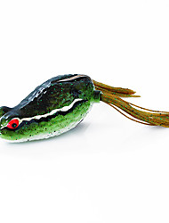 Fishing Bait Frog 60mm/16g Sauce Green Fishing Lure Pack with Two Hooks