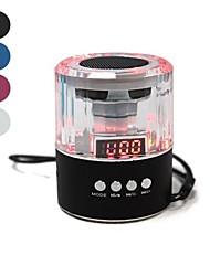 Portáteis de cristal luzes coloridas cartão Speaker Suporta FM