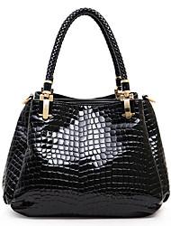 y&c moda padrão de pedra bolsa de couro de patente