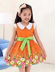 bb&b été nouveau coton imprimé floral robe de princesse moyen de 2,014 fille