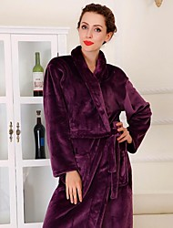 Bath Robe, High-class Dark Purple Garment Bathrobe Thicken