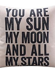 ты мой солнце хлопок / лен декоративные подушки крышки