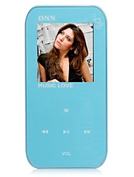 "ONN Q2 Ultra-Slim 1.5 ""Screen MP3 Player com Gravador / FM-azul (8GB)"