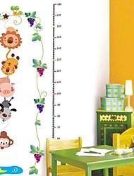 Createforlife ® Little Monkey Pegar Altura Lua Chart Crianças Nursery quarto adesivos de parede arte da parede decalques