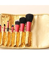 7PCS High-grade  Makeup Brushes Cosmetic Eyebrow Lip Eyeshadow Brushes Set with Case