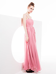 Lanting Asymmetrical Georgette Bridesmaid Dress - Watermelon Plus Sizes / Petite Sheath/Column Straps