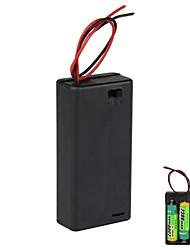 3V 2 x support de batterie AA Boîte de cas avec fils