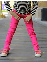 Girl's Black / Blue / Green / Pink / Purple / Red / Yellow / Beige Leggings,Solid Cotton All Seasons