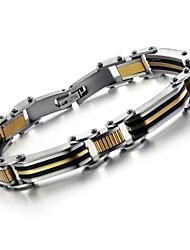 mannen gouden koele tussen titanium stalen armband