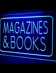 Magazines Books Advertising LED Light Sign