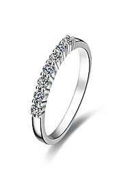 blanc nscd bagues en diamant simulées des femmes classiques avec certificat de la carte (hj) (1 pc)