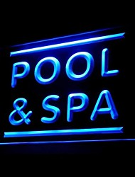 Pool Spa Advertising LED Light Sign