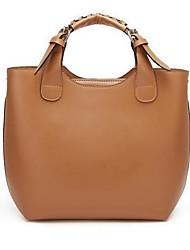 Women's Real Genuine Leather Black/Camel/Orange Purse Vintage Hobo Shoulder Bag Tote Handbag