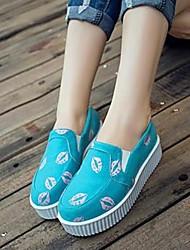 женские пятки клина круглые бездельники носок обуви