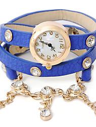 wagen u pu Legierung Rhinestone-Armband-Uhr der Frauen