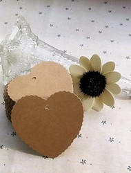 Heart Scalloped Brown Paper Tag (Set of 100)