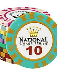 $ 10 puces motif de couronne argile de mahjong divertissement jouets