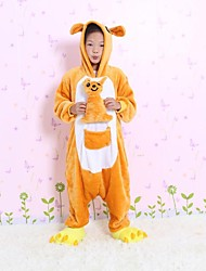 NEW cosplay Kangaroo Flannel Toilet version Children Kigurumi Pajama