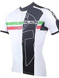 ILPALADINO Cycling Jersey Men's Short Sleeve Bike Breathable Quick Dry Ultraviolet Resistant Jersey Tops Polyester 100% Polyester Stripe
