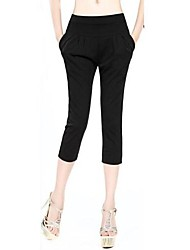Women's Black/Orange Harem Pants , Casual/Party/Work