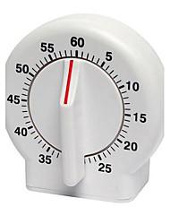 60 min ícone clássico timer de cozinha mecânica temporizador de cozinha contagem regressiva (cor aleatória)
