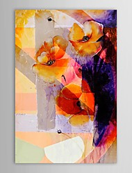 pittura a olio dipinta a mano astratta grande tela fiore arte con telaio allungato